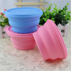 Silicone foldable waterproof silicone rubber fruit dog bowl