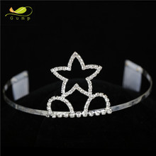 Star Shape Crystal Princess Tiara Rhinestone Childrens Beauty Queen Crowns