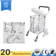 Aluminium stair climber 6 wheel foldable grocery shopping hand trolley market cart