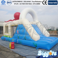 Giant Octopus Happy Inflatable Bouncer Slide Inflatable Combo Game
