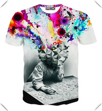 3D Print Men's Casual all over body sublimation printed T-Shirts with fashion design and imported printing ink from Itally
