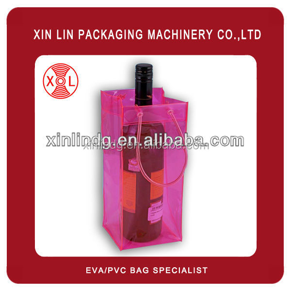pvc wine bag eva bag for winebottle drink bottle eco-friendly xl-2003