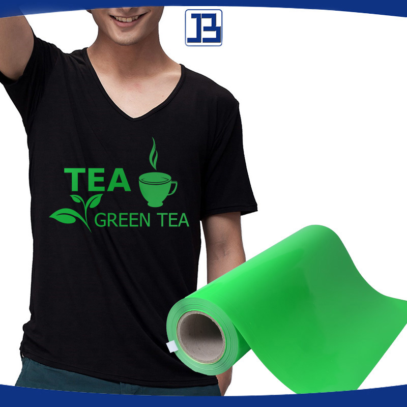 High quality PU heat transfer Vinyl / film,IRON ON T-shirt Heat Transfer , neon green