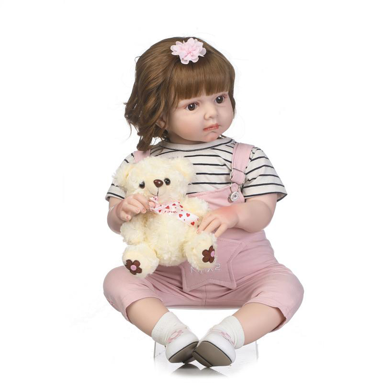 Christmas new toys lifelike real doll soft silicone reborn baby