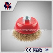 stainless crimped wire wheel brush with nut