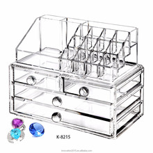 Classical combined acrylic makeup organizer