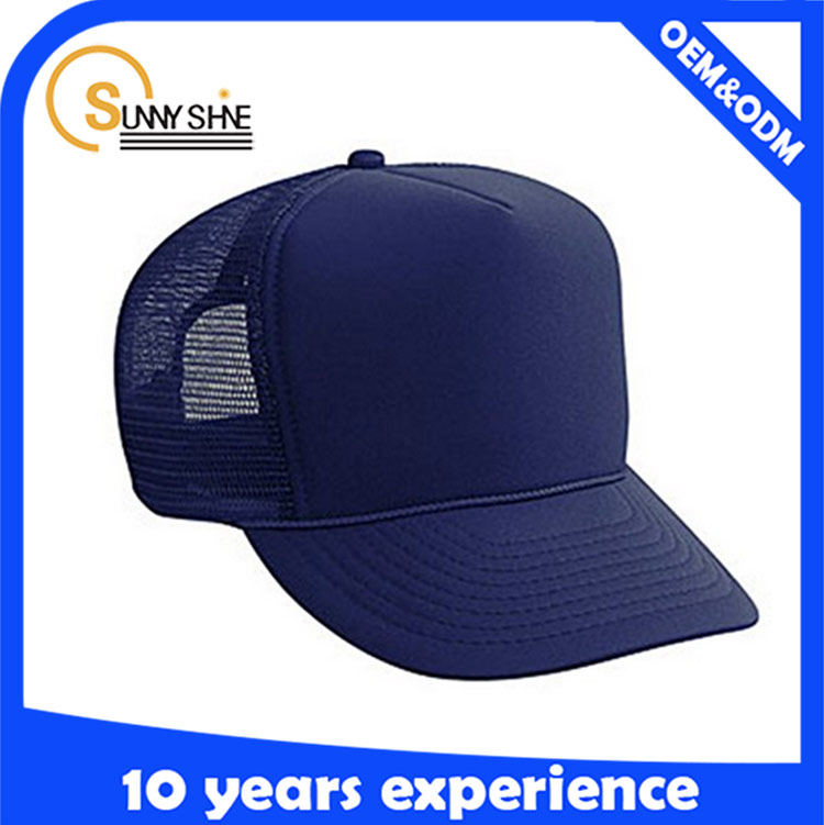 Sunny shine new style product high quality cheap Baseball Trucker Mesh Foam Caps Wholesale