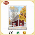 China Factory Price Farmland and Red Car LED Wall Decoration Canvas Painting