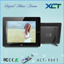 Wholesale bulk wall mounted gif lcd led 8 inch paid samples digital photo frame ce rohs XCT-8003