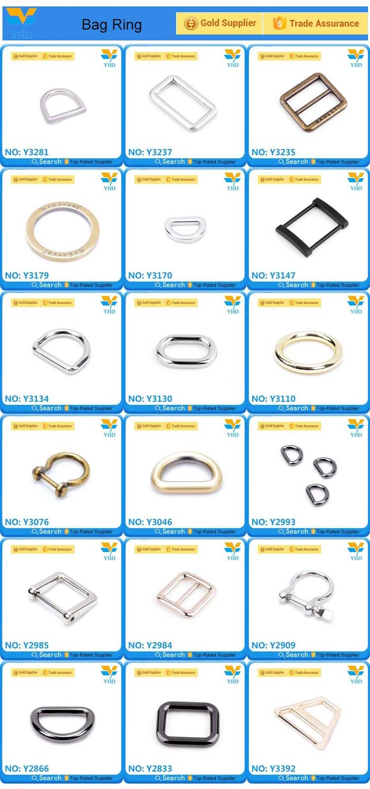 fashion higt quality metal brass bag chains for bag wholesale