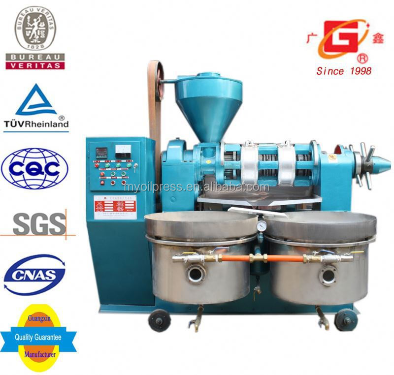 farm machinery Vegetable oil physical spial squeeze auto oil extruding machine with filter