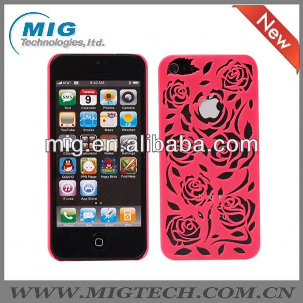 Hollow Rose style for iphone 5 case, for iphone 5S cover