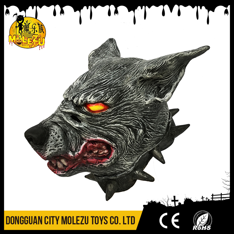 MOLEZU Accept custom animal mask latex wolf dog mask