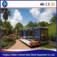Luxury 40ft expandable container homes/pre-made folding house container prices made in China