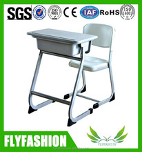Used plastic school desk chair, school plastic table and chair for kids