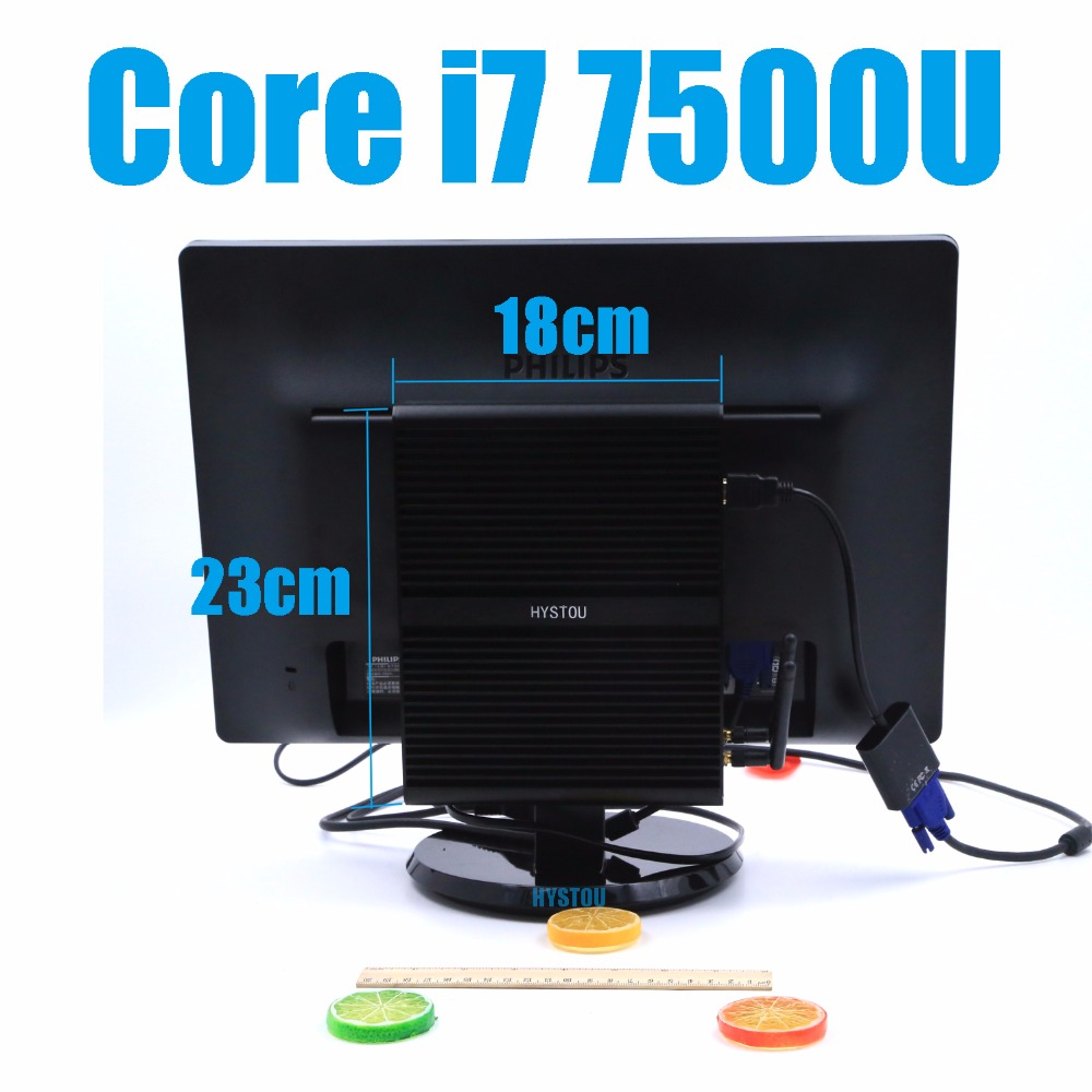 7th Gen Kaby Lake Fanless Mini PC board linux Core i7 7500U 2.7GHz Max 3.5GHz Intel HD Graphics 620 on sale