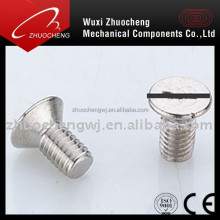 zinc plated flat head countersunk slotted screws