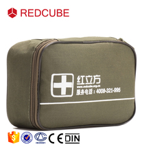 2017 new design automobile car durable mini small green medical emergency kits first aid pouch bag