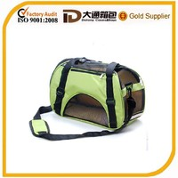 Fancy durable 600D polyester pet carrier bag for travel