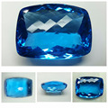 Top Quality Natural Far Size Faceted Cut SwissBlue Topaz