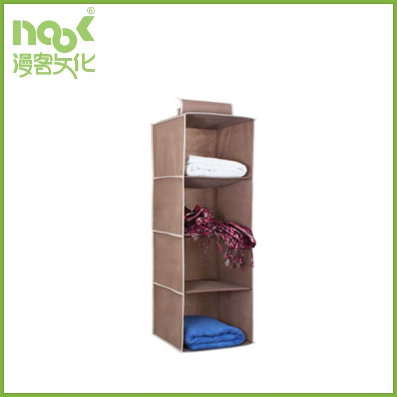 nonwoven hanging closet organizer colorful cloth storage box