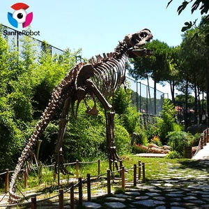 Museum life-sized artificial Simulation Wooden Climbing Skeleton