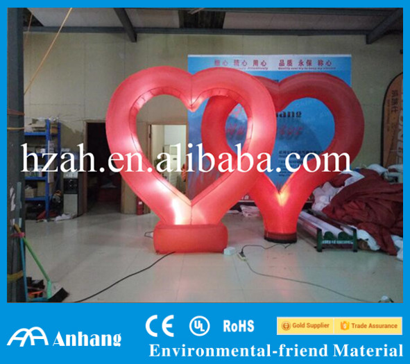 Red Inflatable Light Heart for Wedding Stage