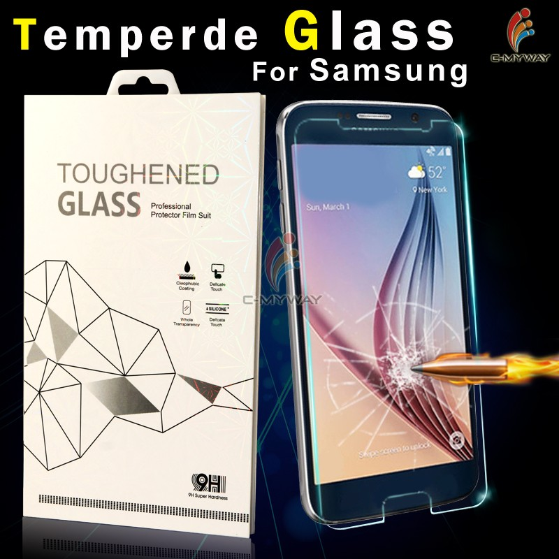 Guangzhou Supplier 0.26mm Clear Gold tempered glass screen protectors for Samsung i9100 oem/odm (Glass Shield)