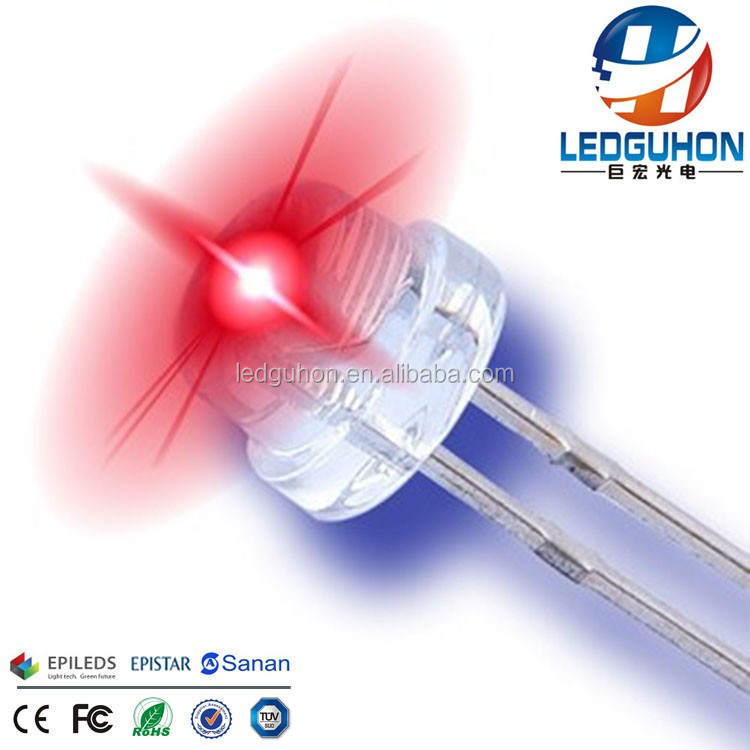 5mm red straw hat high brightness led diodes used for led strip
