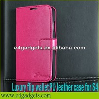2013 new Arrival Fashionable style PU bible leather case for samsung galaxy s4