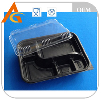 household plastic lunch box with handle for food packaging