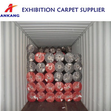 china velour carpets and rugs, hotel carpet,red exhibition carpet