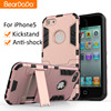 Anti shock kickstand Hybrid TPU PC for apple phone cases for iphone 5 s