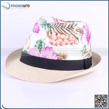 2017 new advertising Promotion Cute Small Paper Straw Hat