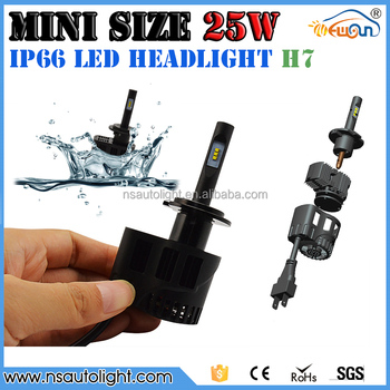 Easy install High quality 25W 3200LM IP66 water proof Mini size LED headlight bulb kit H4 H7 H8 H9 H10 H11 H15 H16