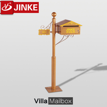 Mailbox With Pedestal,2015 New Brushed Outdoor Standing Stainless Steel Waterproof Letter Box