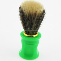 Baoli cheap price bristle hair free sample shaving brush with green plastic handle