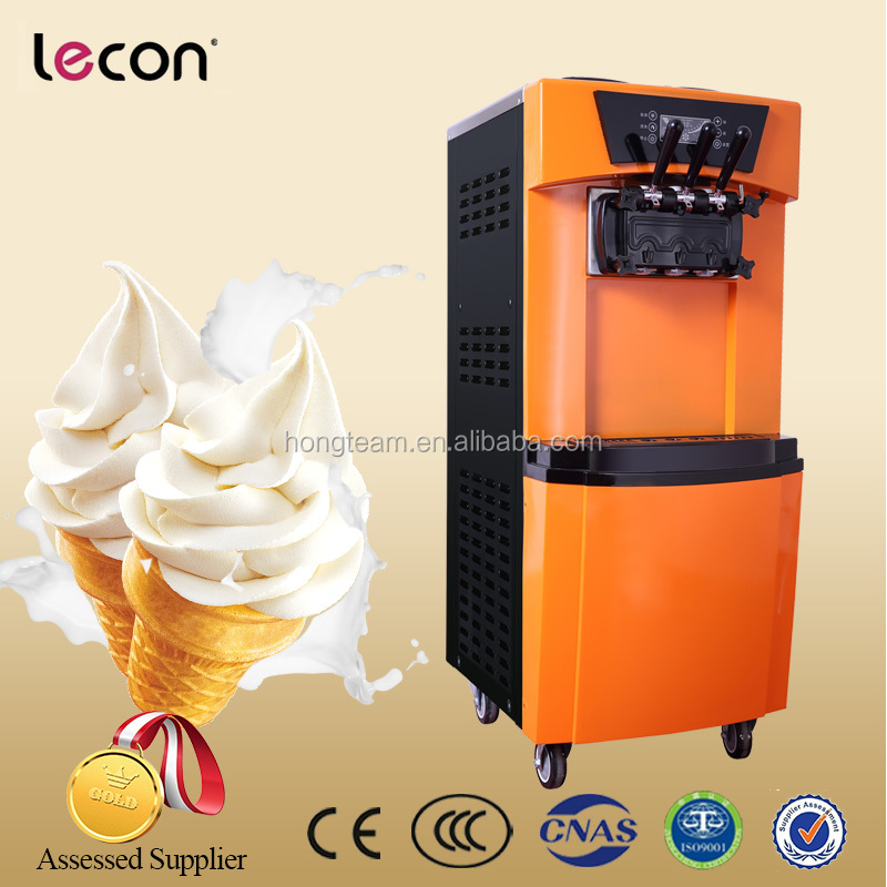 Snack Food Machine 12L 3 Flavors Soft Ice Cream Making Machine for Sale Manufactory Price in China