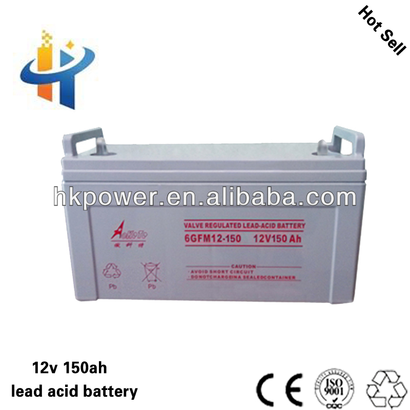 Aokete 12V 150AH long life lead acid battery for cars, 150AH dry battery for ups , value regulated back up battery