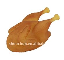 PVC squeaky pet toys chicken