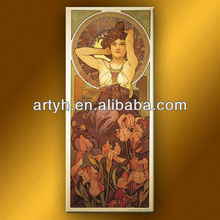 Alfons Mucha cuadros verdaderos Best selling Best Seller <span class=keywords><strong>de</strong></span> la mujer desnuda atractiva <span class=keywords><strong>de</strong></span> la foto <span class=keywords><strong>de</strong></span> la