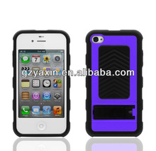 Sleeping mode cell mobile phone case,Brand new hard plastic case cover silicone for iPhone 4 4S case