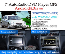 LSQ Star Autoradio Gps For Benz C Class W203/clk W209 Car Dvd With Dvd/cd/usb/mp3/mp4/bluetooth/ipod/radio/tv/gps/Android!
