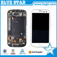 wholesale price for samsung galaxy s3 i9300 lcd display full original complete with frame