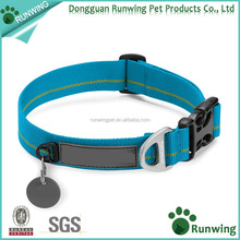 Pet dog collar plastic release buckle dog collar for small large dogs