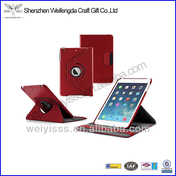 2014 Fashion Style Rotating Stand Leather Case /Cover/Stand For Apple IPad Mini