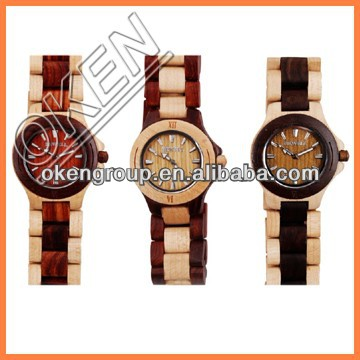 100% Natural Wood Watch,Adjustable to Fit Most Any Wrist