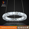 hot selling circle led crystal pendant light ring led circle ring light