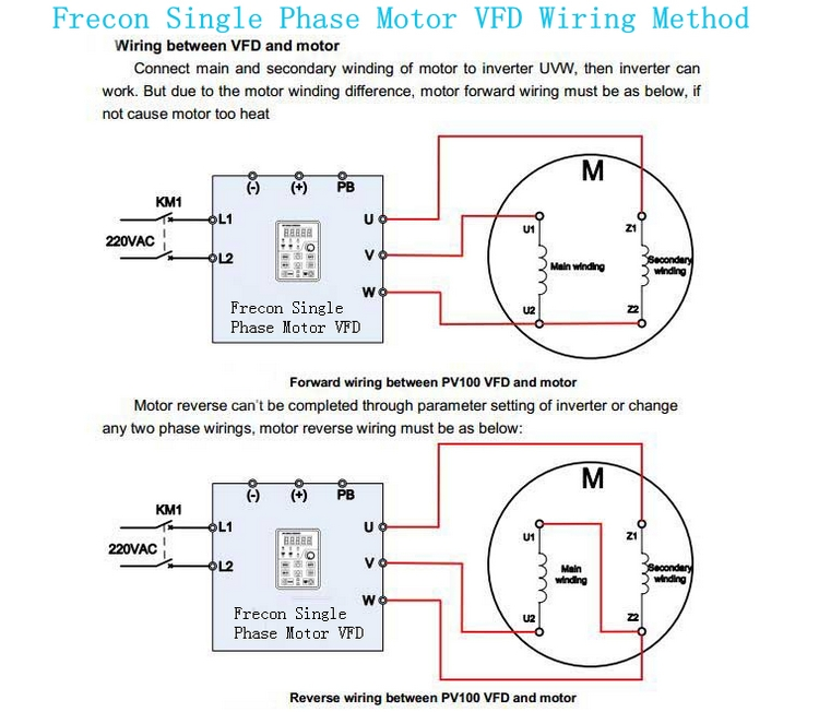 Vfd Single Phase Motor Schematic - Product Wiring Diagrams •