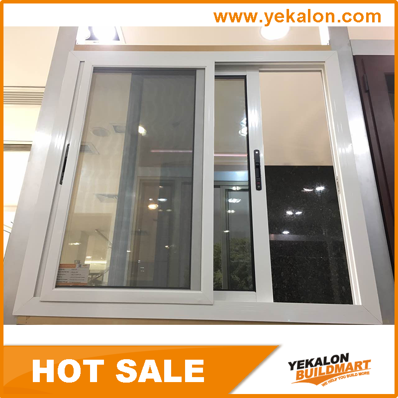 Yekalon Cheap Waterproof Sliding Aluminum Window with Inside Cover for the Middle East Market